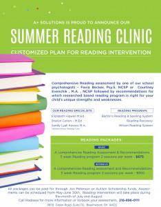 Summer Reading Clinic Information