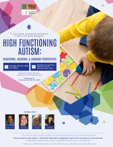 High Functioning Autism Event Details