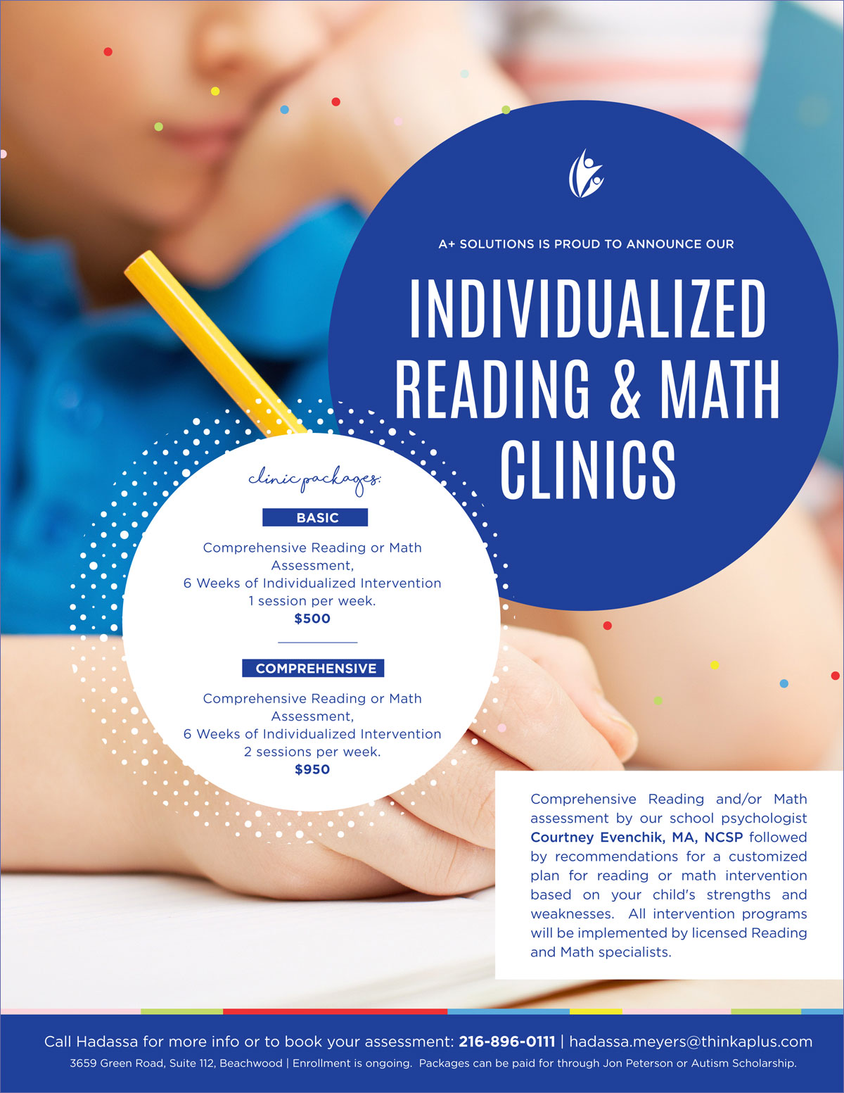 Indivuidualized Reading & Math Clinics Flyer