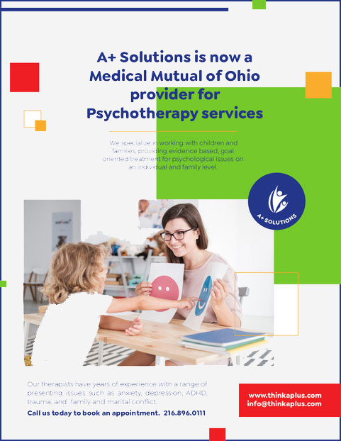 A+ Solutions is now Medical Mutual of Ohio Provider for Psychotherapy Services